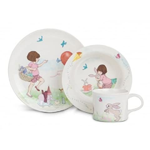 Belle & Boo CHILDRENS 3 PIECE FEEDING SET, Melamine, Various