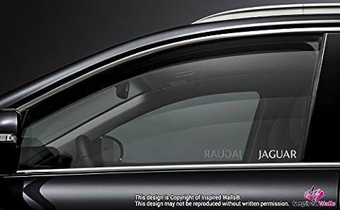 2x Jaguar Car Door Window Etched Effect Decal Stickers Adhesive Premium x Type Xjs by Inspired Walls®