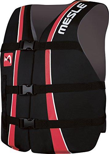 MESLE Universal-Schwimmweste Sportsman Adult, Universalgröße 40-70+ kg, 50-N Auftriebsweste Schwimmhilfe Prallschutz, schwarz-pink, für Erwachsene und Jugendliche