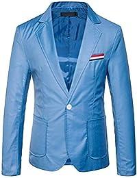 Blazer Casual Blazer para Hombre Chaqueta Casual para Hombre con 1 Ropa Botón Chaqueta Casual para