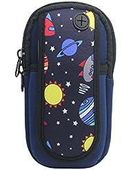 Sac de bras de pied de sport en plein air Sac de téléphone portable créatif, bleu