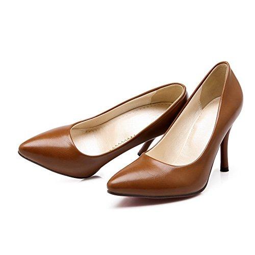 Balamasaapl10053 - Sandales Compensées Pour Femmes Jaune