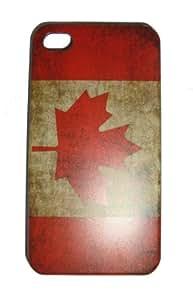 "EKNA-SHOP iPhone 4 4S ""Flagge Kanada Vintage"" Used-look Hardcase-cover / Schale / Case / Bumper von EKNA-Shop"