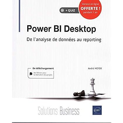 Power BI Desktop - De l'analyse de données au reporting