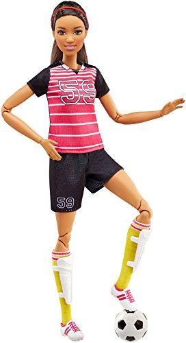 Barbie FCX82 Made to Move Fußballspielerin (brünett) Puppe (Sport Barbie)