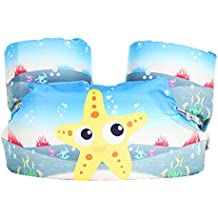 Surenhap Manguitos Bebe Puddle Jumper Armbands Juguete Hinchable para Niños Aprender a Nadar - Estrella de