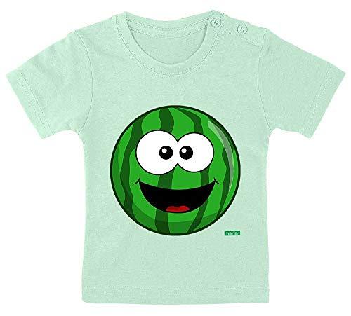 HARIZ Baby T-Shirt Melone Lachend Frucht Süß Plus Geschenkkarte Zahnpasta Grün 9-15 Monate / 70-79cm (Zahnpasta Für Erwachsene Kostüm)
