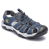 HOBIBEAR Men Outdoor Hiking Sandals Breathable Athletic Climbing Summer Beach Shoes Blue-b