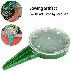 Distributeur de semences, outils de jardin 5 semoirs à graines réglables, Transplanteurs et perforateurs de différentes tailles