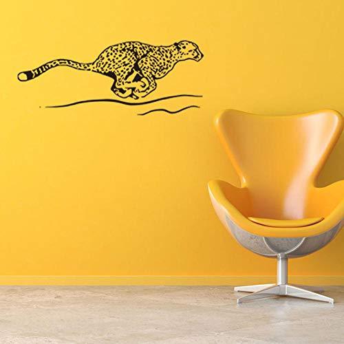LSDAEER Flying Leopard Wandaufkleber Tieraufkleber Wohnzimmer Schlafzimmer Wand Hintergrund Dekoration Aufkleber 114X46Cm Wand Deko Für Wandsticker Wandtattoo (Flying Leopard)