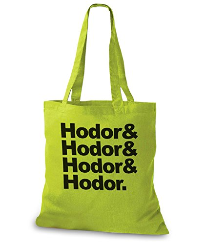 StyloBags Jutebeutel / Tasche Hodor, Hodor, Hodor & Hodor Kiwi