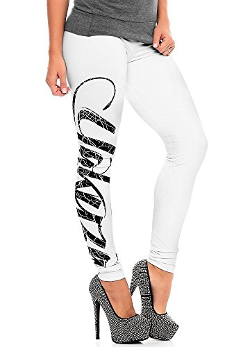 Yakuza Femme Pantalons & Shorts / Leggings Daily Use Blanc