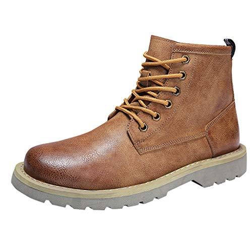 Herren Stiefel Derby Wasserdicht Kurz Stiefeletten Winter Herren Worker Boots Profilsohle SchnüRschuhe Schlupfstiefel,Elastische SchnüRsenkel FüR Reitstiefeletten Und Reitstiefel -