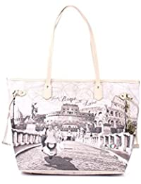 Borsa donna Shopping grande Y Not stampa Roma with Love - Serie Yes Bag  Instant - 9a0720f8121