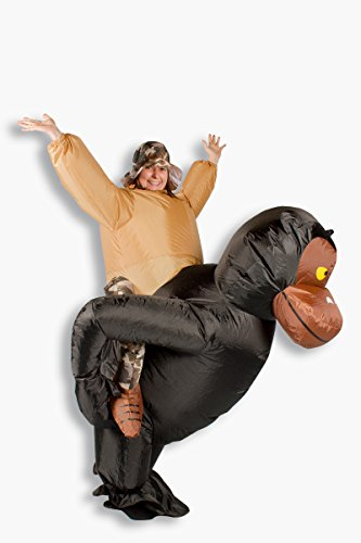 Aufblasbares Kostüm Gorilla Reiter Affenkostüm Karneval Junggesellenabschied Verkleidung