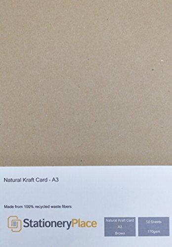 Stationery lugar de grosor, marrón - A3 de tarjeta de papel...