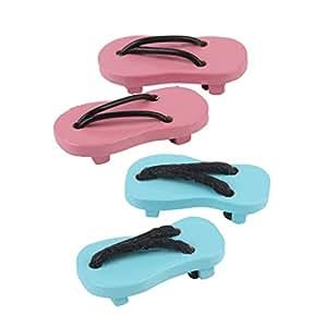 2 Paires Tongs Flip Flops Miniature pour 1/12 Échelle Maison de Poupée