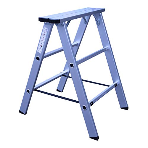 STIER Aluminiumbock, Tragfähigkeit 150kg, perfekt geeignet als Materialständer, Montageblock, Klappbock, Arbeitsbock