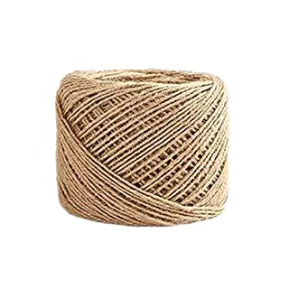 100m Hemp Natural Jute Twine Hessian String Cord (3 ply 2mm)