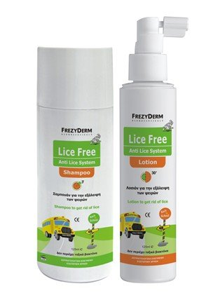 frezy Derm lice Free Set (Shampooing 125 ml + Lotion 125 ml + toothed Comb)