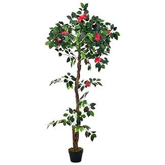 SengentoStyle Kunstplant met pot camelia 160 cm groen
