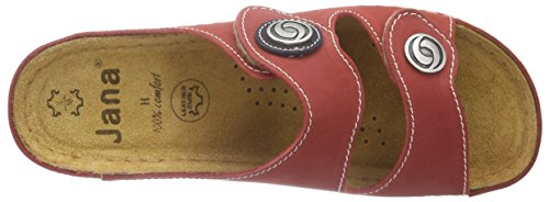 Jana 27206, Mules femme Rouge - Rot (RED 500)