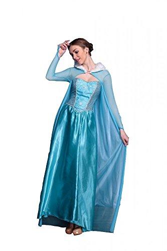 Deluxe Kostüm SNOW PRINCESS - LANG, (Kostüm Disney Snow Queen)