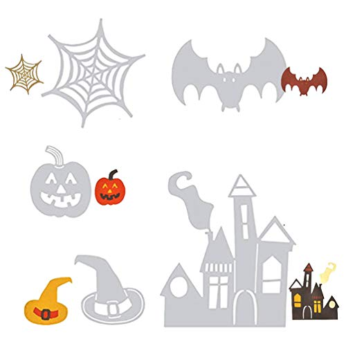 Halloween Metall Stanzschablone Fledermaus Kürbis Spinnennetz, Hexe, Geister, Spinnenhaus, Schablone, Scrapbooking, Papier, Fotokarten, Prägung, Basteln