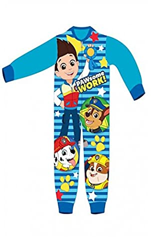 Boys Licensed Paw Patrol Ryder Chase Marshall Micro Fleece Onesies