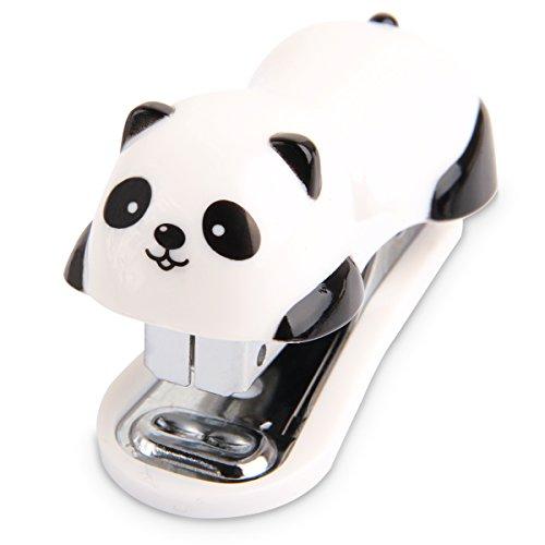 ccinee Cute Panda Mini Desktop Hefter mit Heftklammern für Büro Schule Home Reisen und Best Pfiffiges Geschenk für Freunde und Kinder