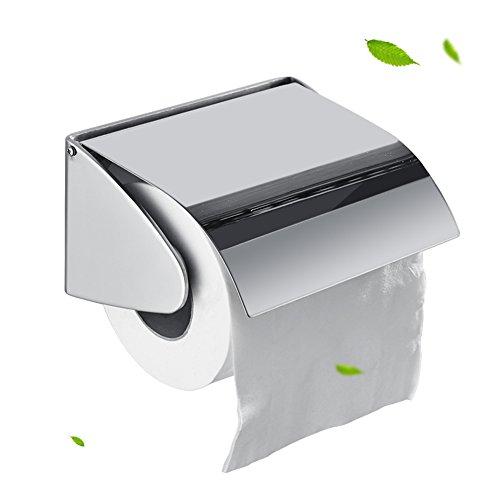 Wc-papierhalter Edelstahl,Rostfrei Toilettenpapierhalter Wand Bad Wc Rollenhalter Schrauben Montage -