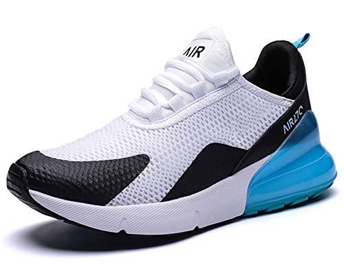 GNEDIAE Uomo Air 27C a Collo Basso Scarpe da Ginnastica Sportive Scarpe da Corsa Running Palestra Sneakers Bianco 45 EU