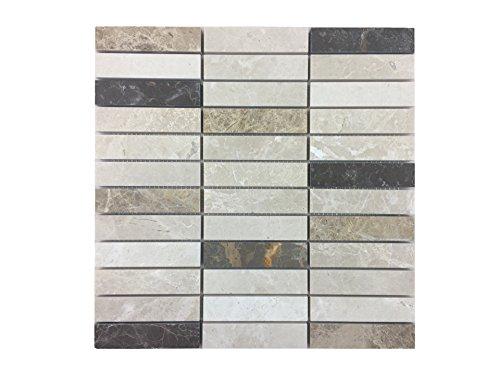 azulejos de mosaico de piedra natural/mosaico de mármol pulido como baldosas de pared | pared o suelo revestimiento para baño o cocina de piedra natural I...