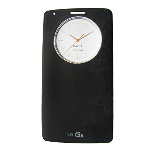 Generic Quick Circle View Window Flip Cover For LG G3 (Black)