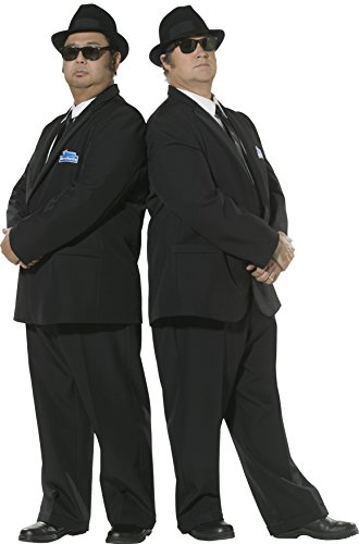 Smiffys Herren Blues Brothers Kostüm, Anzugjacke und Hose, Größe: L, 30377