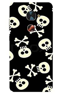 AMAN Skeleton Head Pattern 3D Back Cover for LeEco Le 2