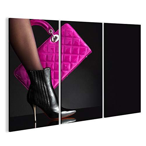 bilderfelix® Bild auf Leinwand modische Frau mit Einer roten Tasche, Mode-Foto Wandbild, Poster, Leinwandbild GMC (Teile Gmc)