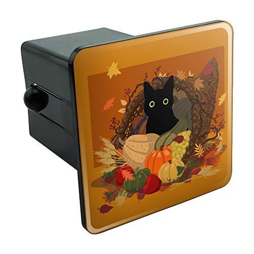 (Graph & More Thanksgiving, Schwarze Katze, versteckt in Cornucopia mit Kürbiss, Anhängerkupplung, Steckereinsatz, 5,1 cm)