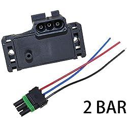16040609 16006836 2Bar MAP Sensor - SINOCMP 12247571 16009886 2 Bar MAP Sensor Turbo Boost for Opel Renault Volvo with Plug Connector Pigtail