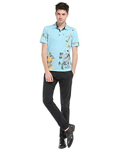 Glestore Poloshirt Herren Ausdrucken Sommer T-Shirt 70Blau