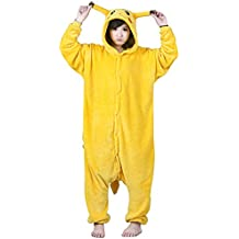 Pijama Tonwhar®, de Pikachu, pijama, disfraz de Halloween para adultos, estilo anime