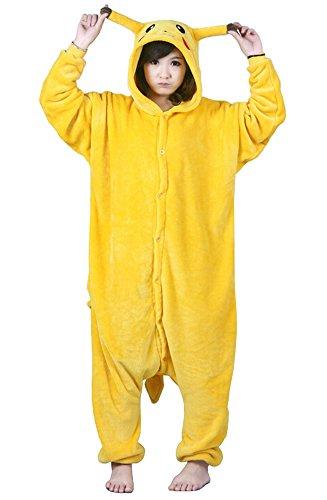 Imagen de tonwhar® pikachu kigurumi pijama/disfraz de halloween para adultos, estilo cosplay de anime