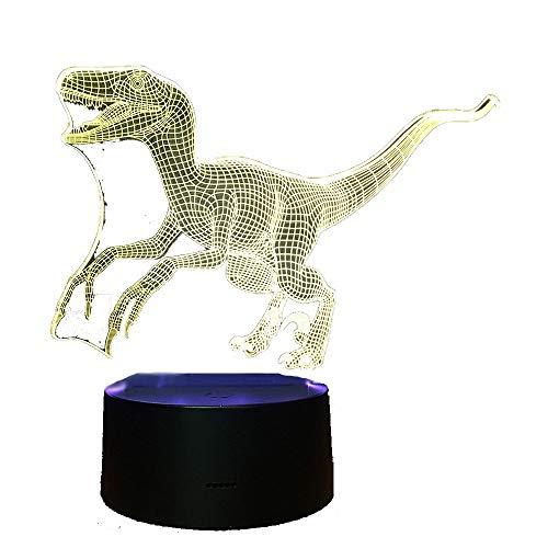 Nachtlicht Baby,3D Illusion Lampe , Optische 3D Illusions Lampen Tischlampe Nachtlichter Berührungsschalter Schreibtischlampe Mit USB Kabel Kinder Nachtlampe3811-Transfer wood pattern + colorful touch -