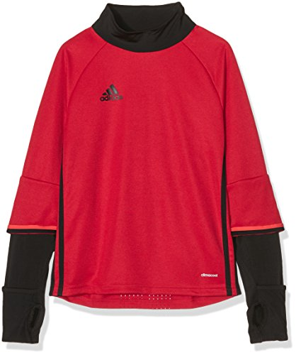 adidas Kinder Sweatshirt Condivo 16 Training Top, Scarlet/Black/Bright Red, 164, S93548 (Adidas Polo-shirt Langarm)