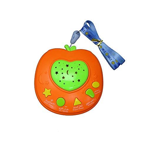 yibenwanligod Apple Shape Lernmaschine LED Lichtprojektor Kinder Pädagogisches Spielzeug - Orange