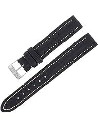 Breitling X12115–14mm en cuir véritable bande de montre Mesdames noir W Boucle.