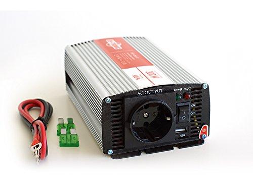 ★ CONVERTISSEUR PUR SINUS 12v 220v 300 watts + Sortie USB 1A de marque US-TRONIC® ::::: Meilleur rapport qualité-prix de sa catégorie ::::: Délivre un courant en 220 volts d'une pureté parfaite ::::: Rendement élevé, faible consommation à vide ::::: Garantissez à vos appareils un fonctionnement optimal + une protection absolue ::::: Recommandé pour une utilisation dans votre voiture ★