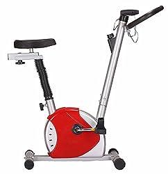 Kobo Exercise Bike / Upright Cycle Ab Care King Cardio Fitness Home Gym(White:Blue)