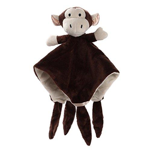 Upxiang 30 * 30 cm Teddybär Weiche Schlaf Puppe Kuscheln Tier Tröster Handtuch Decke Baby Schlaf Umarmung Hug Puppe Geschenk Kinder Spielzeug Fotografie Requisiten Raumdekoration (Braun) -