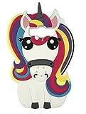 SKS Distribution® Arco iris fantasía unicornio pony caballo suave silicona caso de teléfono móvil para Samsung Galaxy Grand Prime